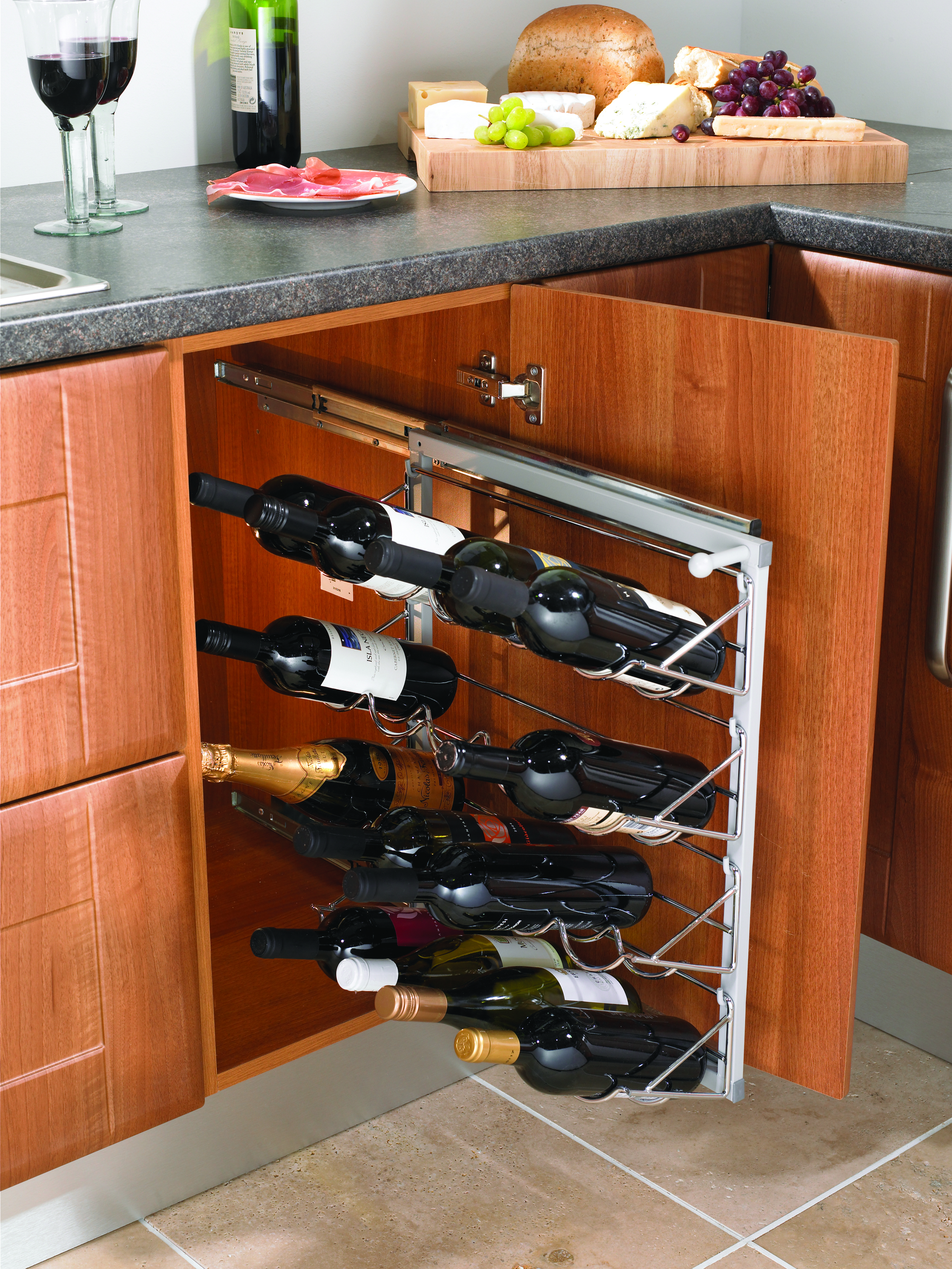 Wine racks for your kitchen for Other uses for wine racks in kitchen
